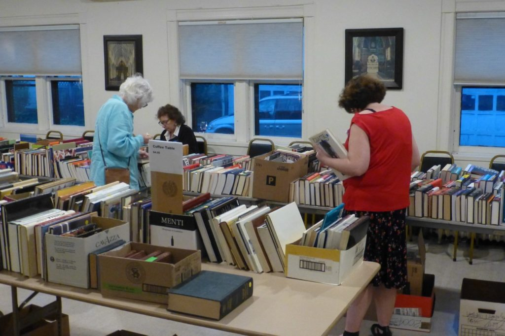 Christ Church holds regular book sales to support the parish conservancy.